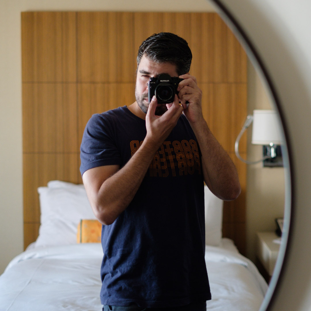 Mirror selfie of the photographer. Yes, it's embarrassing.